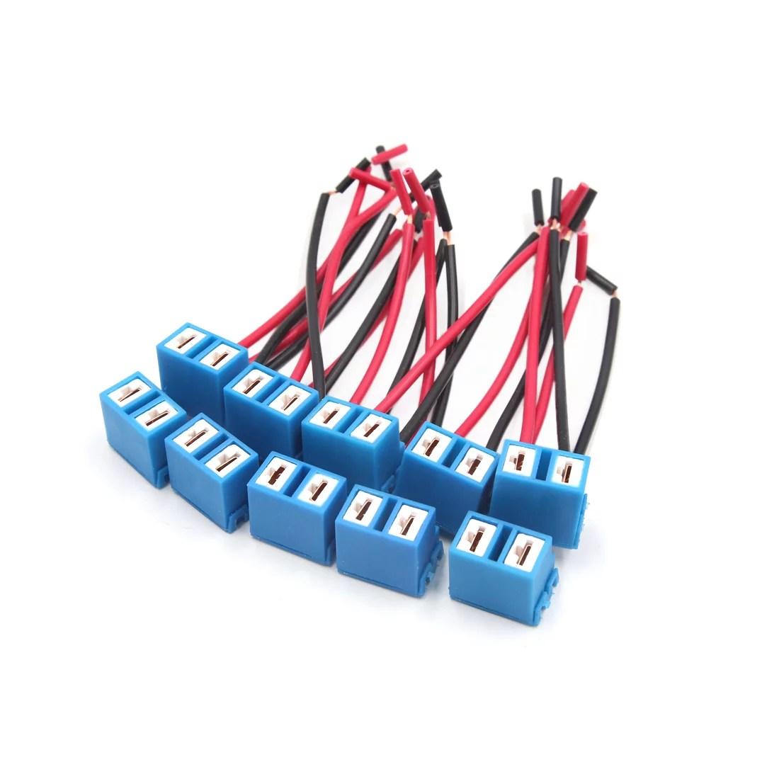 10pcs ceramic car h7 headlight fog lamp wiring harness socket rh walmart ca 2006 nissan 350z headlight wire harness headlight plug wiring [ 1100 x 1100 Pixel ]