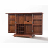 Crosley Newport Expandable Bar Cabinet In Classic Cherry ...