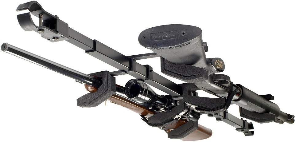 big sky racks sbr 2g utv dual gun atv skybar utv telescoping rifle rack walmart com