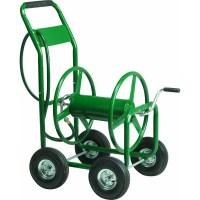 Best Garden 4 Wheel Metal Portable Hose Reel - Walmart.com