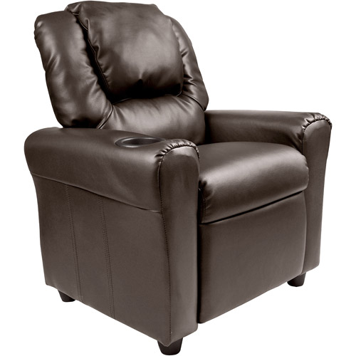 adult gaming chair plush baby rocking flash furniture kids' vinyl recliner with cupholder and headrest, multiple colors - walmart.com
