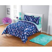 Your Zone Micromink Inky Feather Comforter Set