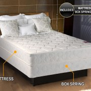 Legacy Gentle Firm Twin Size 39 X75 X8 Mattress And Box Spring Set Fully Assembled Good For Your Back Sleep System Longlasting Superior Quality