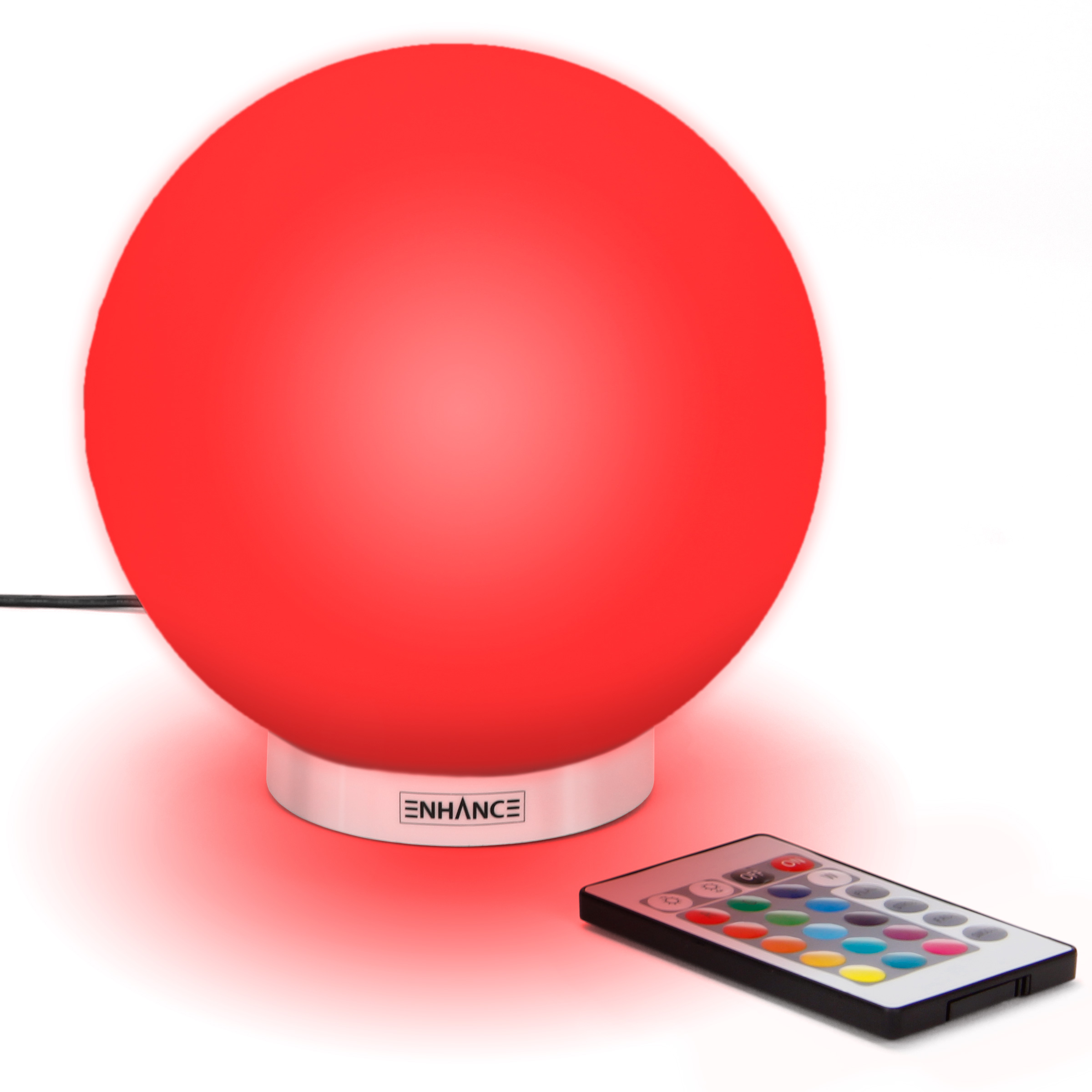 enhance led globe kid night light lamp ambient bedside silicone color changing lamp 5 9 inch wireless remote control 4 lighting modes dimmable