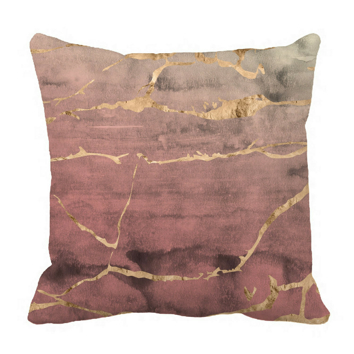 eczjnt rose gold metallic marble pillow case cover set 20x20 inch
