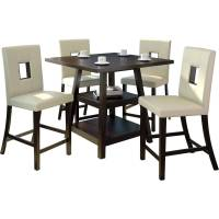 Coaster 5-Piece Counter Height Table and Chair Set ...