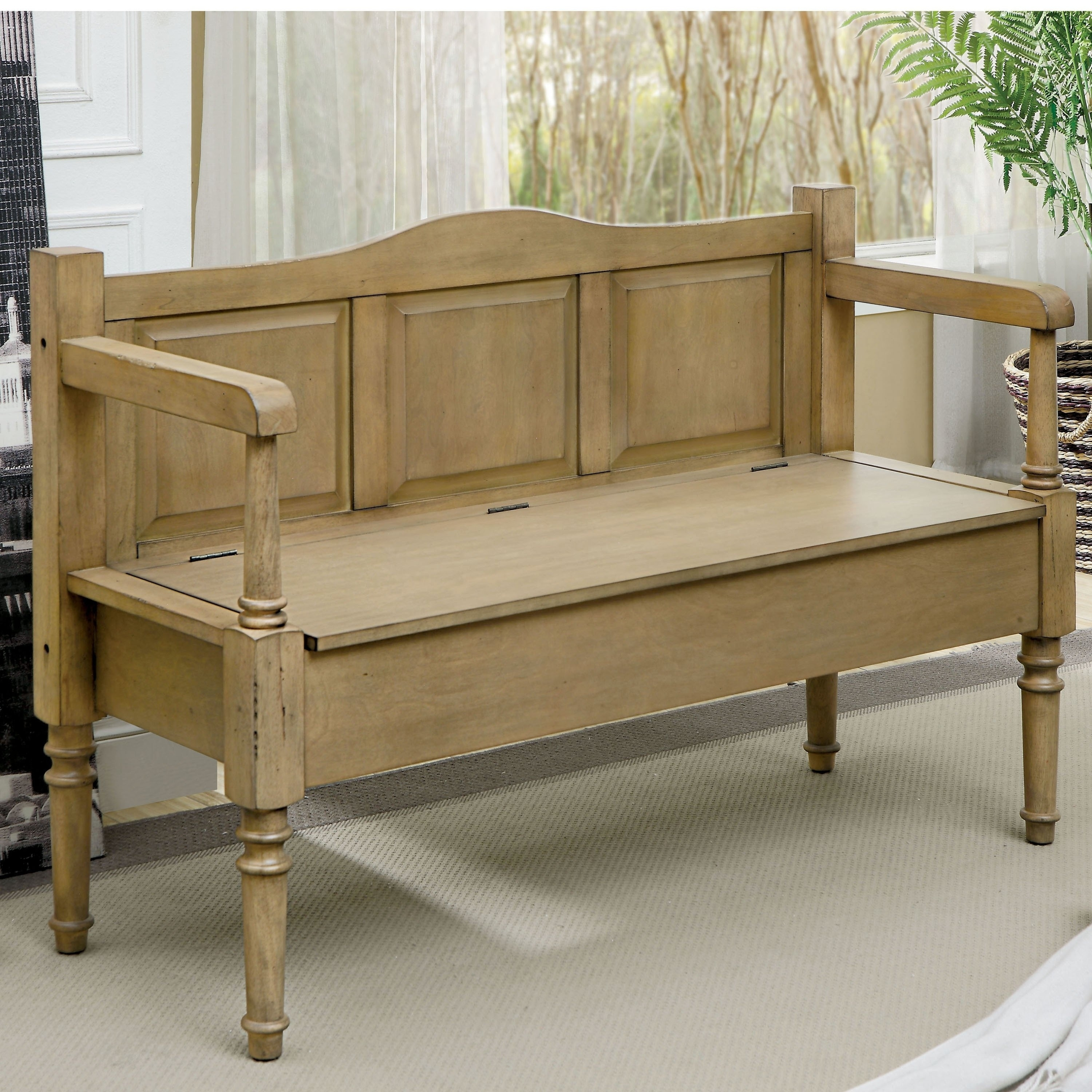 Simpli home makes a contemporary yet traditional solid wood entryway storage bench that works with virtually any style decor. furniture of america mimi transitional solid wood storage bench walmart com