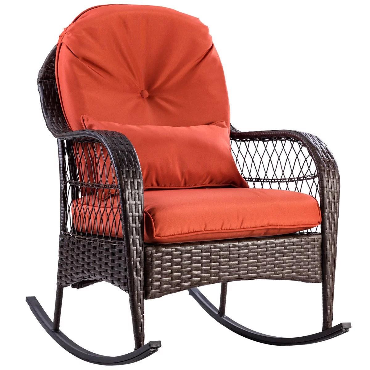 walmart outdoor rocking chair swinton avenue trading gymax patio rattan wicker porch deck rocker