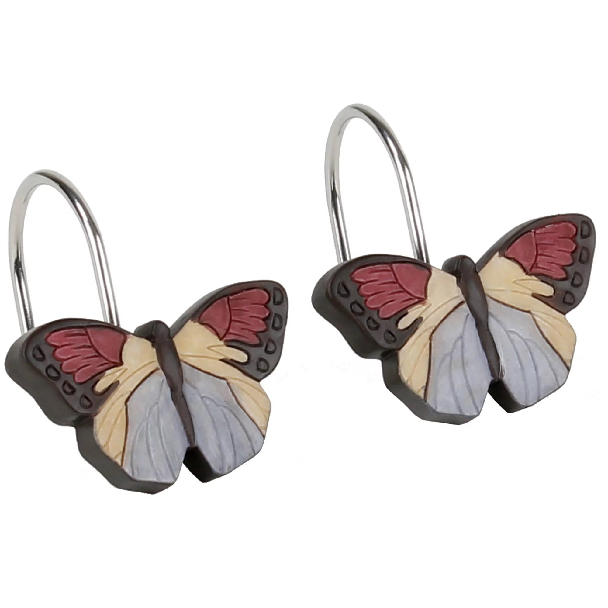 mainstays mainstays solace butterfly shower curtain hooks 12 piece from walmart accuweather