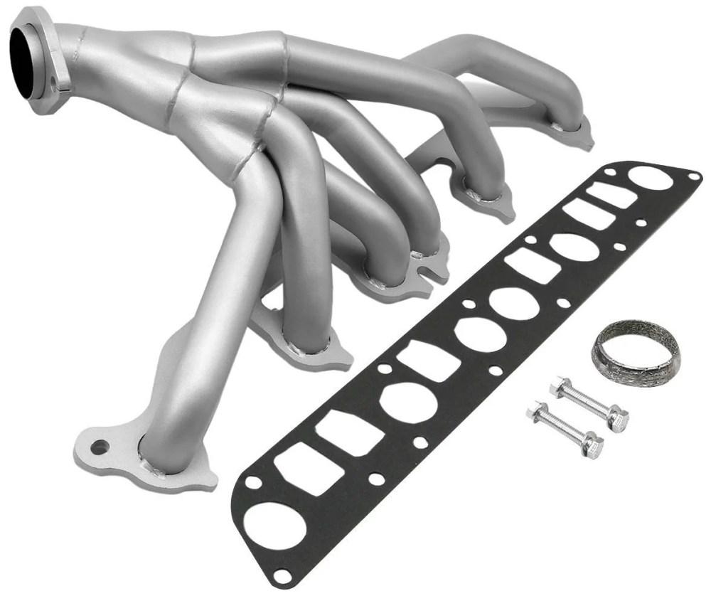 medium resolution of for 91 99 jeep wrangler yj tj 4 0l 6cyl ceramic 6 2 1 performance header exhaust manifold walmart com