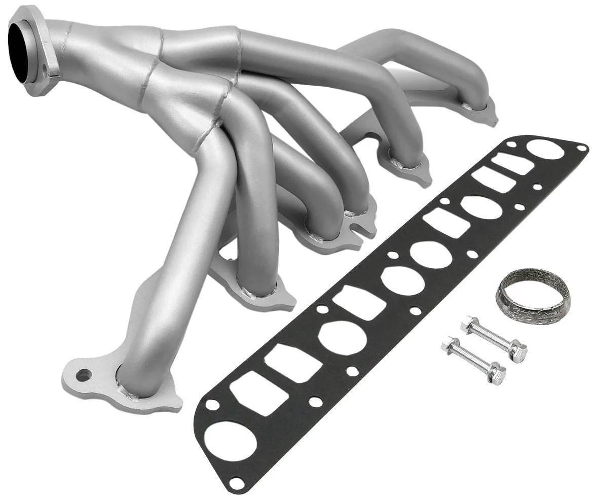 hight resolution of for 91 99 jeep wrangler yj tj 4 0l 6cyl ceramic 6 2 1 performance header exhaust manifold walmart com