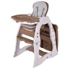 Table High Chair With Tray Dance Ritual Costway 3 In 1 Baby Convertible Play Seat