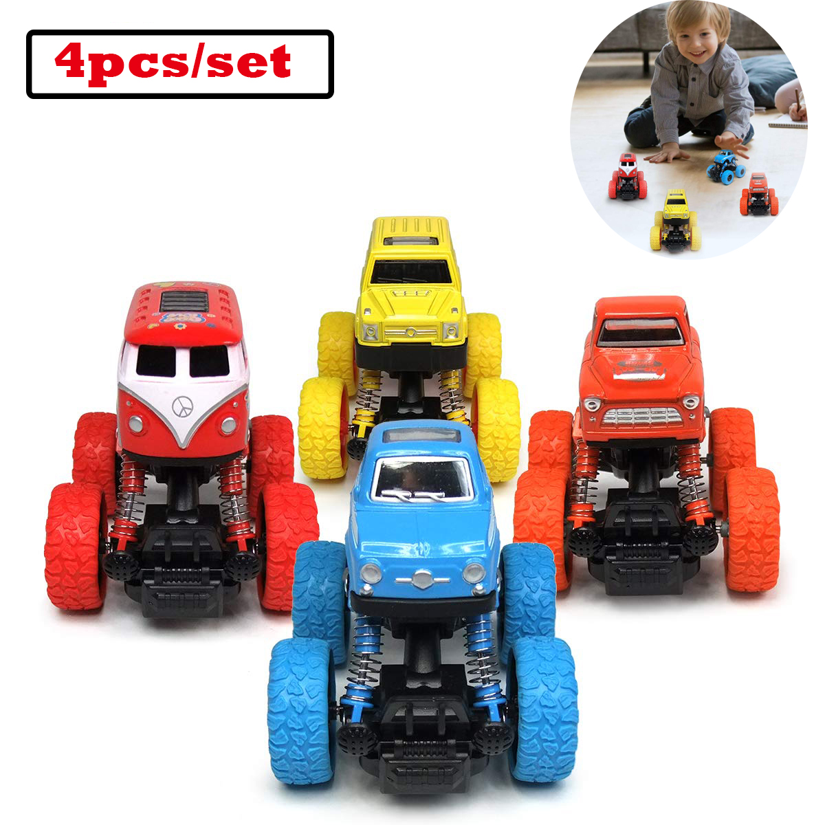 Car Toys Trucks With Big Wheels Pull Back Cars Great T