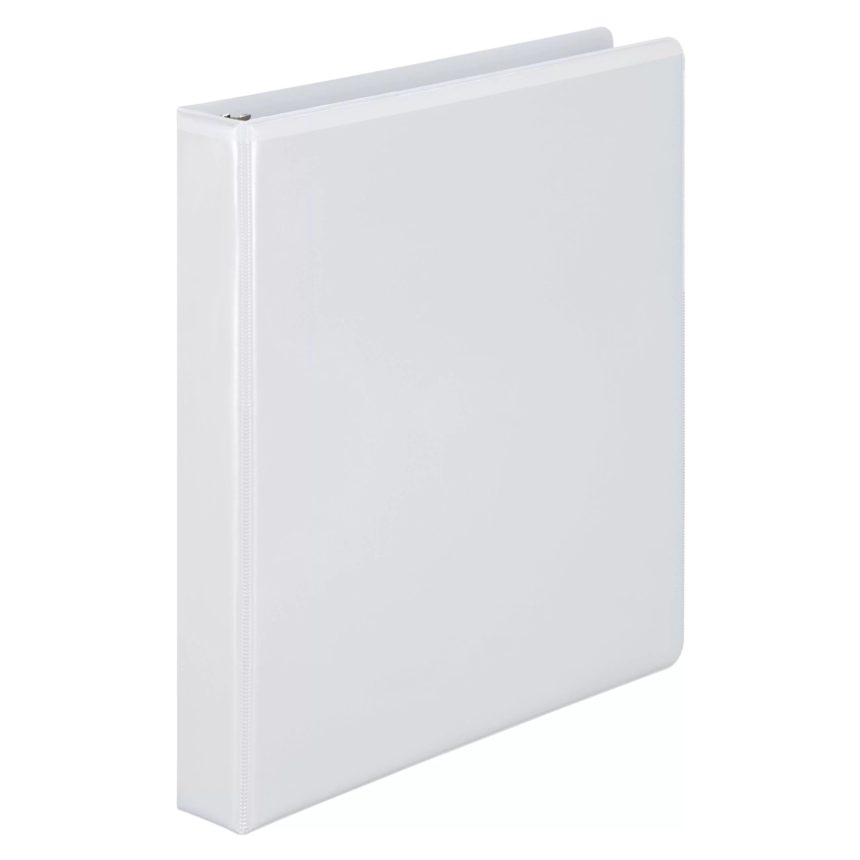Wilson Jones 386 Basic D-Ring View Binder, 1″, White