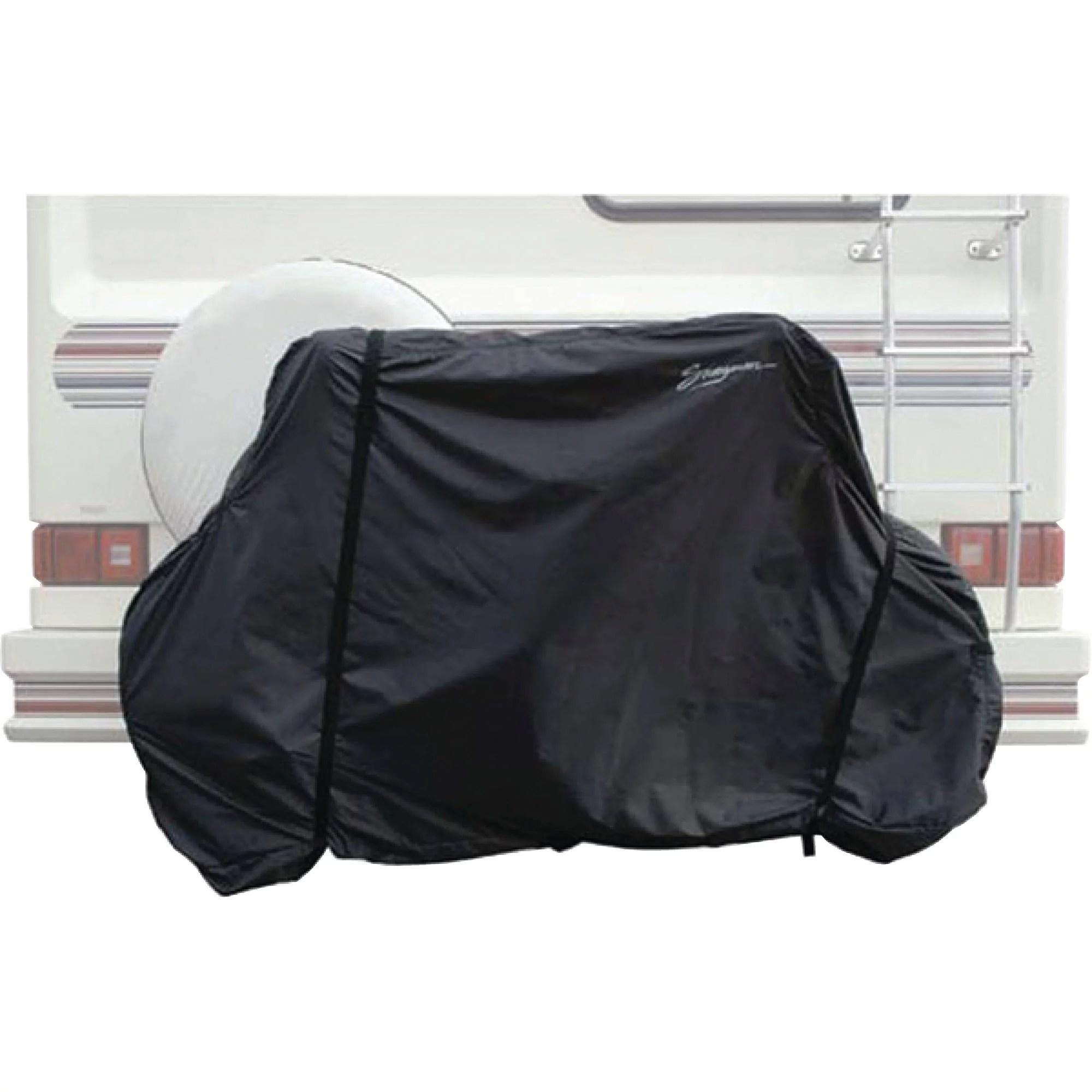 swagman 82006 black horizontal 2 bike rv hitch mount cover bag walmart com