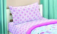 Girls Bedding Set 5 Pc Twin Size Kids Puppy Love Bed in a