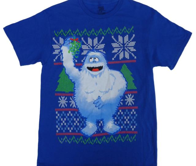 Rudolph Mens Blue Bumble The Abominable Snowmonster Christmas T Shirt M