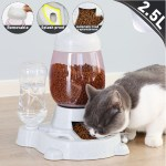 2 5l Automatic Pet Feeder Gravity Water Food Dispenser Dog Cat Feeding Tool Walmart Canada