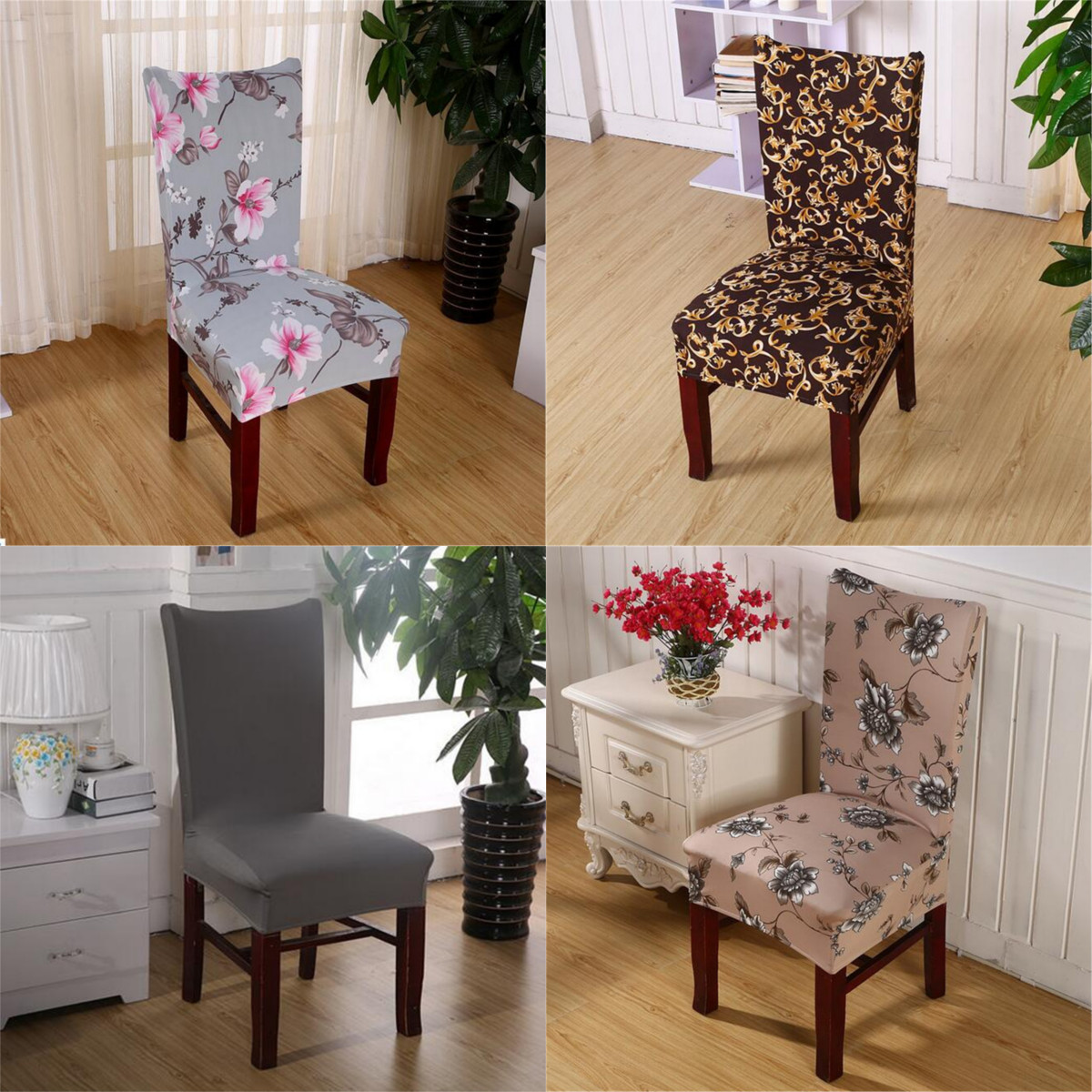 party chair covers walmart the factory soft spandex fit stretch short dining room with printed pattern banquet seat protector slipcover for hone hotel