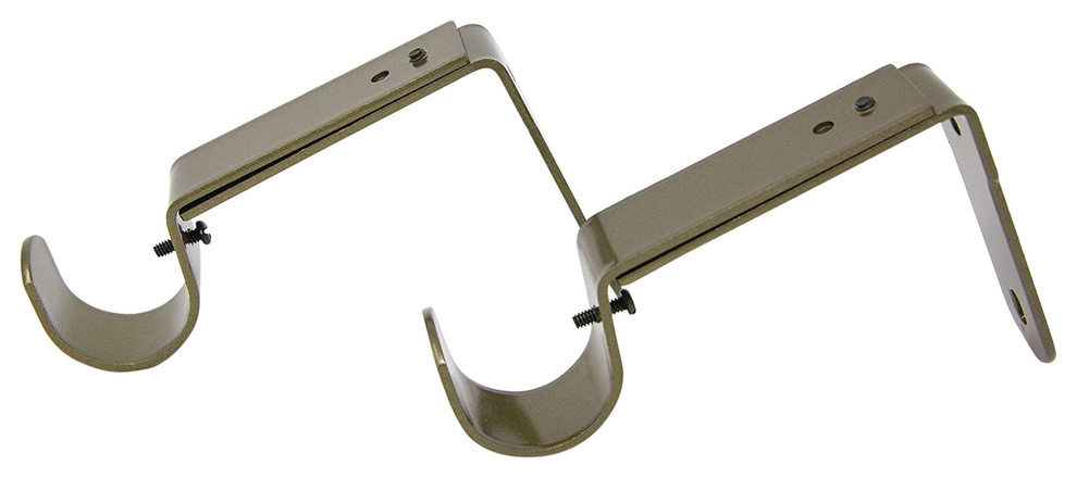 urbanest long adjustable solid zinc curtain rod bracket wall holder fits to 1 1 1 8 and 1 1 4 rod 2 pieces