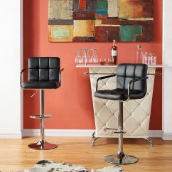 Chair Design With Handle Shower Chairs On Wheels Fabric Dark Grey Swivel Bar Stool Kitchen Furniture Leather Square Chrome Base And