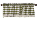 Woven Trends Farmhouse Curtains Kitchen Decor Buffalo Plaid Valance Classic Country Plaid Gingham Checkered Design Farmhouse Decor Window Curtain Treatments Walmart Com Walmart Com
