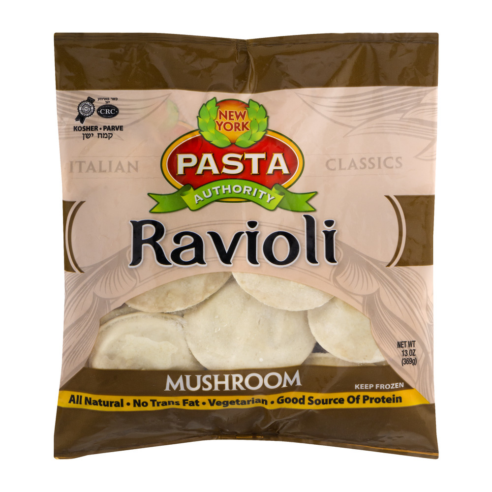 New York Pasta Authority Ravioli Mushroom 130 OZ