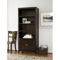 Canopy Tall 4-Shelf Bookcase with Doors, Multiple Finishes ...