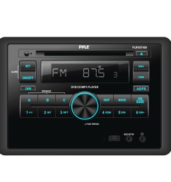 pyle double din in dash car stereo head unit wall mount rv audio video receiver system with radio bt cd dvd player mp3 usb includes remote control  [ 1600 x 1600 Pixel ]