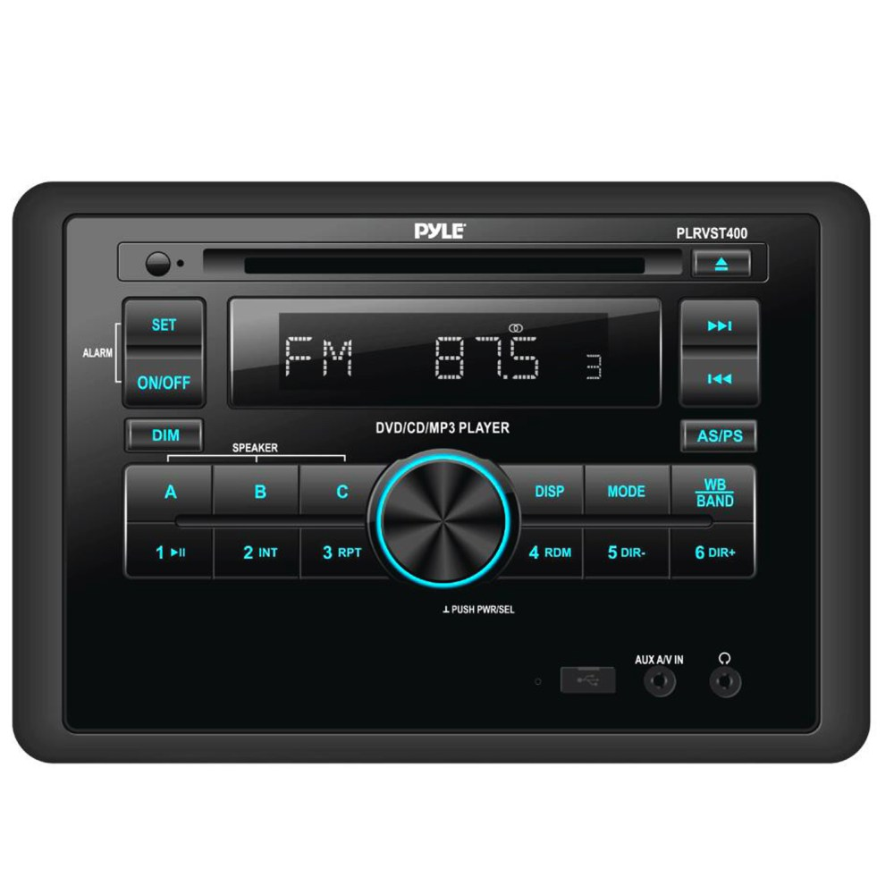 medium resolution of pyle double din in dash car stereo head unit wall mount rv audio video receiver system with radio bt cd dvd player mp3 usb includes remote control