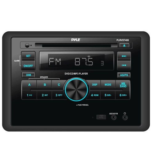 small resolution of pyle double din in dash car stereo head unit wall mount rv audio video receiver system with radio bt cd dvd player mp3 usb includes remote control