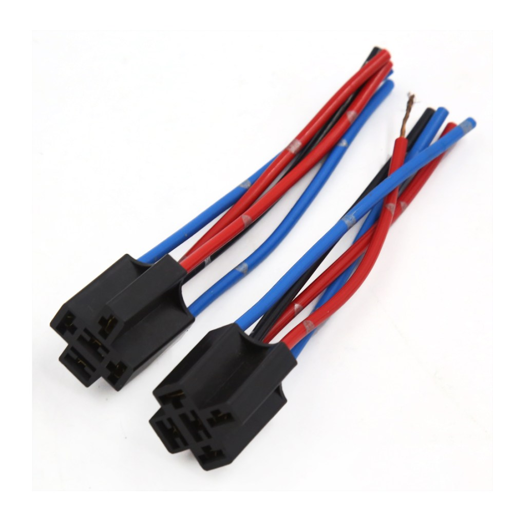 medium resolution of 2 pcs black plastic 5 pin 5 wire relay socket harness wiring for auto car