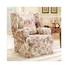 Sure Fit Wing Chair Slipcover Evac Accessories Chloe Walmart Com