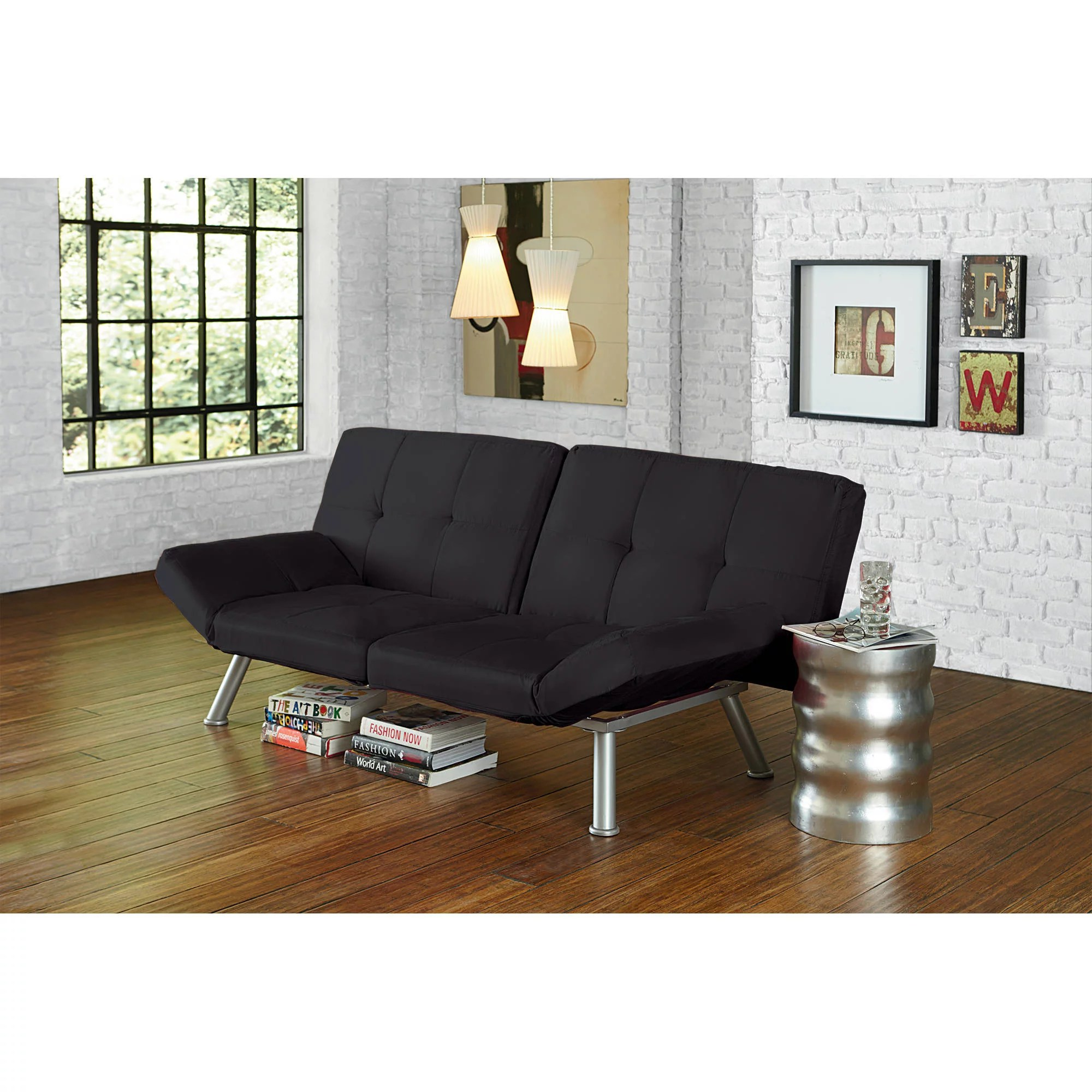 Mainstays Contempo Futon Multiple Colors  Walmartcom