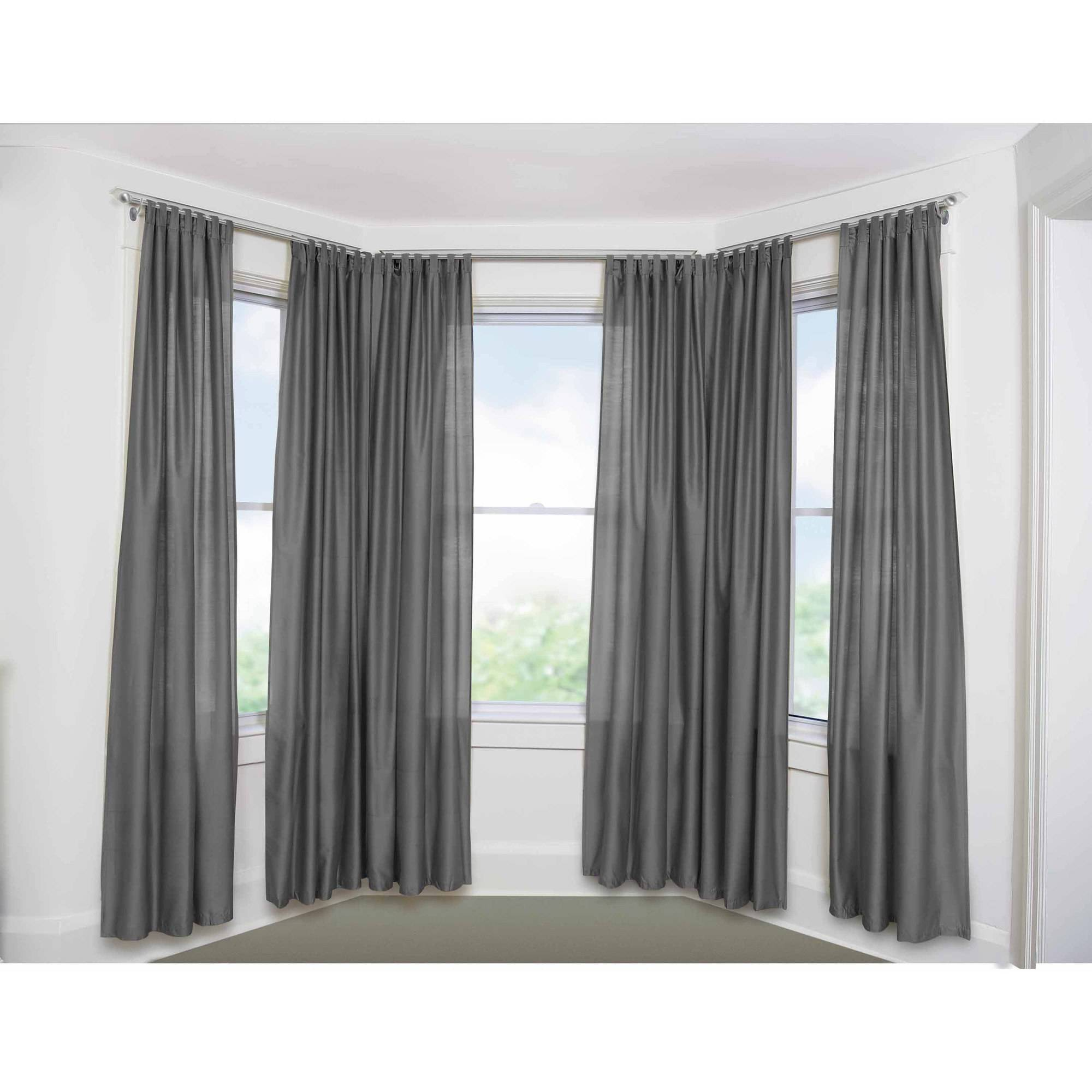 "Bay Window Curtain Rod Set 5 8"" Walmart Com"