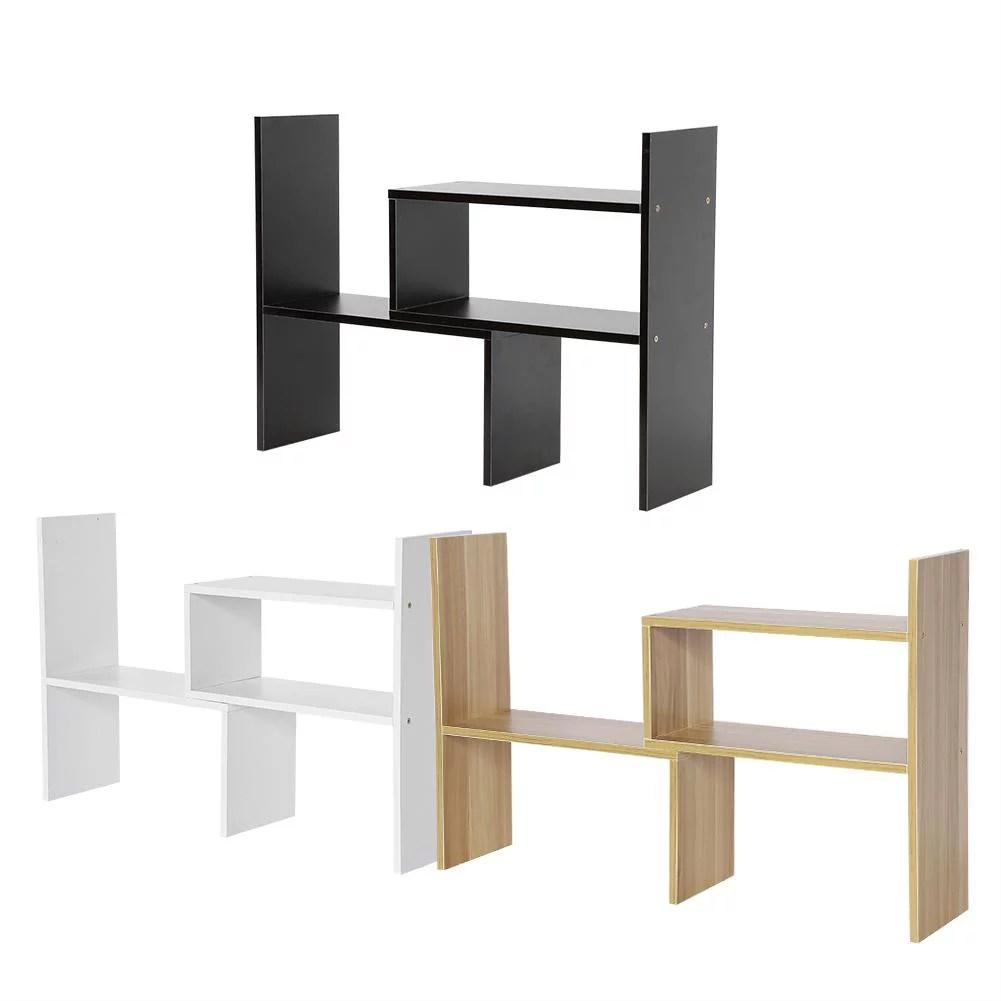 tbest diy table desktop storage rack display shelf organizer counter top bookcase desktop organizer table organizer walmart com