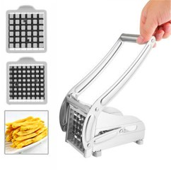 Kitchen Gadgets Types Of Countertops Household Cooking Tools Stainless Steel French Fry Potato Chipper Cutter Slicer Cucumber Chopper