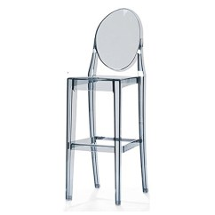 Ghost Chair Bar Stool Rollator Transport 2xhome 30 Seat Height Smoke Contemporary Modern Glam Barstool Side Chairs Molded Plastic Counter Accent