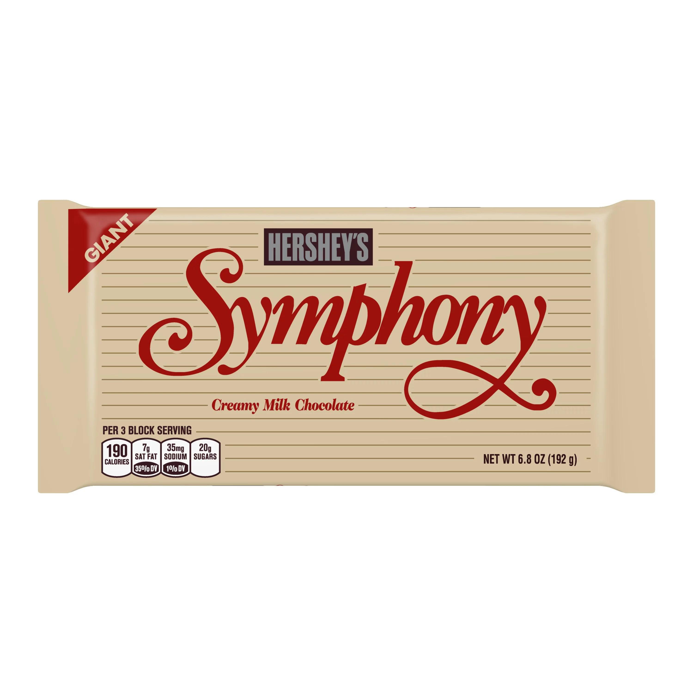 Hershey S Symphony Giant Milk Chocolate Bar 6 8 Oz