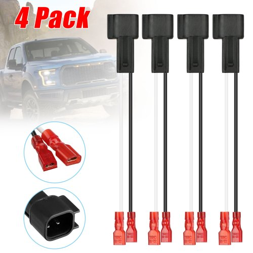 small resolution of eeekit car speaker connector harness wires adapter 4 pack wiring harness wire cable speakers adaptor connector plug for ford and mazda vehicles walmart