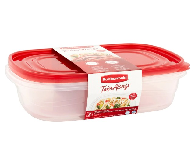 Rubbermaid Take Alongs Rectangular Food Storage Container Set 2 Pieces Walmart Com