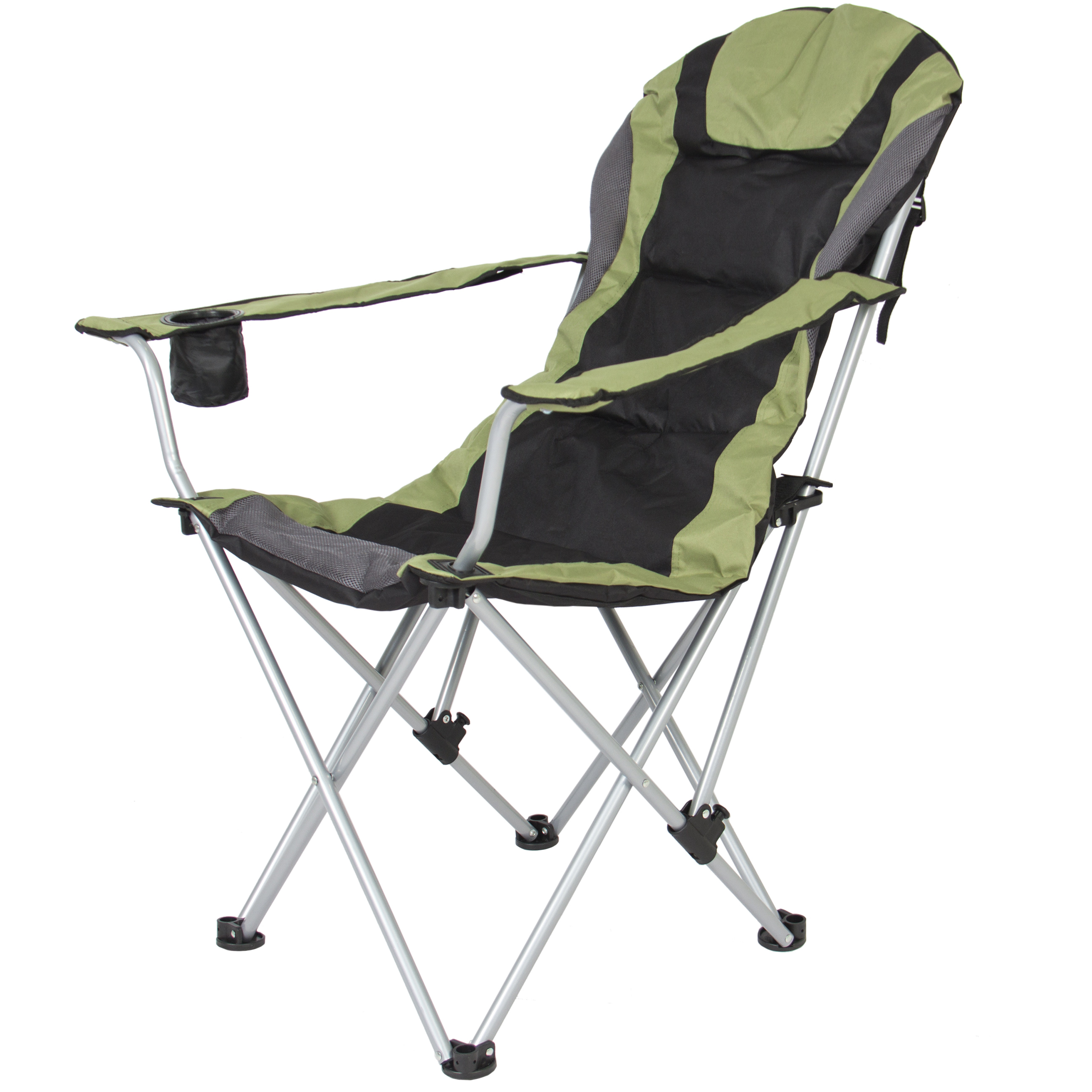 fishing chair ebay and a half leather best choice products deluxe padded reclining camping beach w portable carrying case green walmart com