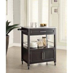 Granite Top Kitchen Cart Diy Island With Seating Linon Cameron 36 Inches Tall Multiple Colors Walmart Com