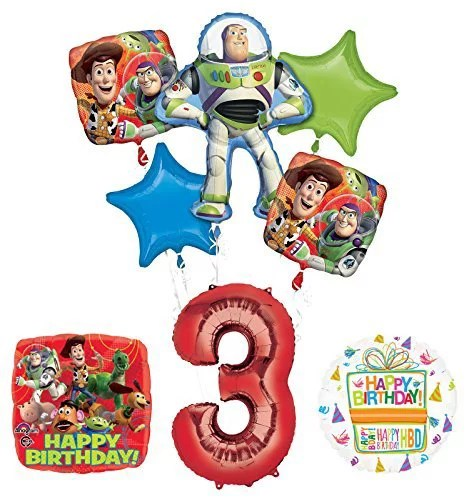 Toy Story 3rd Birthday Party Supplies And Balloon Bouquet