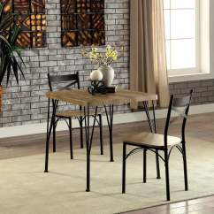 Industrial Style Dining Chairs Tall Bistro Table And Outdoor Furniture Of America Amonica 3 Piece Casual Set Walmart Com