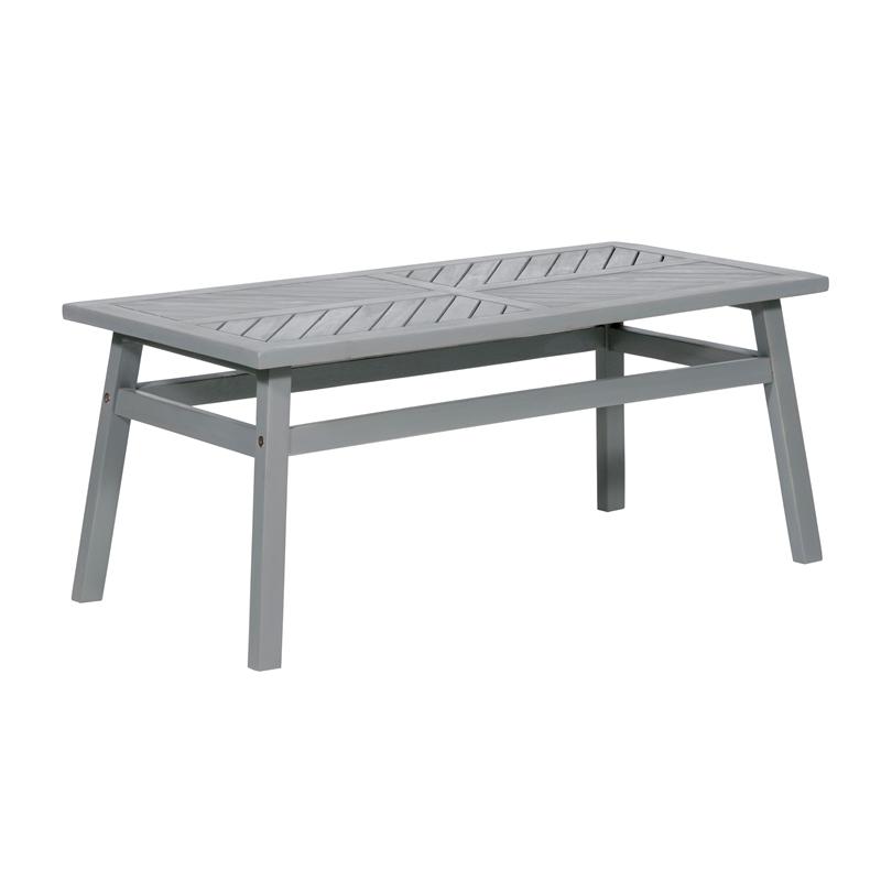 outdoor wood patio chevron coffee table grey wash