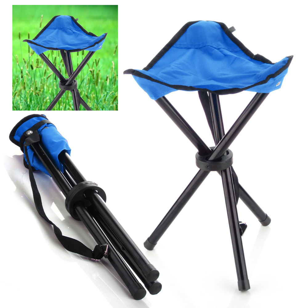 3 legged chair white accent chairs camping folding stool blue portable legs tripod seat for outdoor hiking fishing