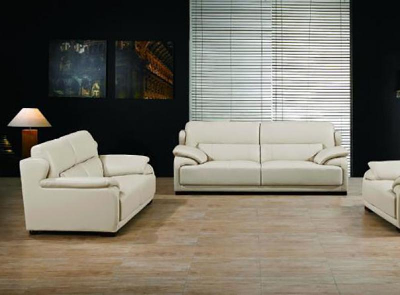 genuine leather sofa and loveseat neowall living divani maxwest p667 modern light camel set 2 pcs walmart com
