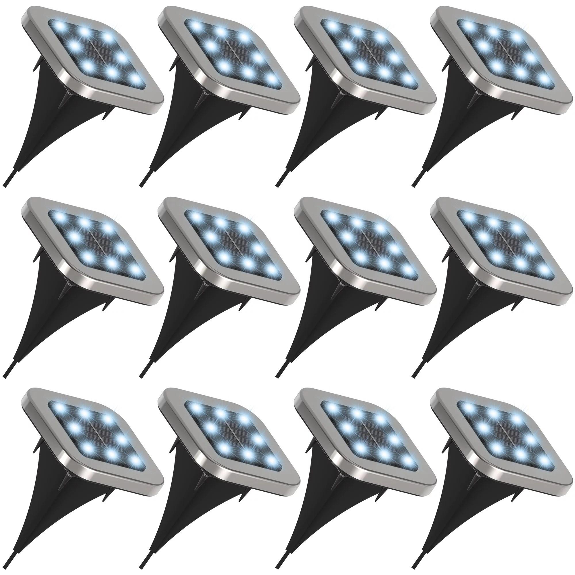 volt landscape lighting 6 spot lights brass led starter kit