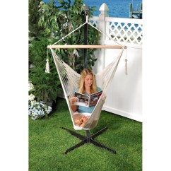 Hammock Chair Stands Antique Maple Rocking Bliss Island Rope Natural Walmart Com